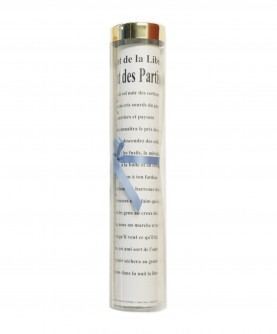Tube transparent pour feuille 25 x 33 cm