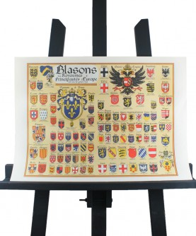 Map of the Coat of Arms of the Kingdoms & Principalities of Europe (1519)