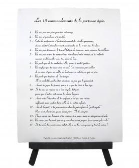 Les 15 commandements de la personne âgée