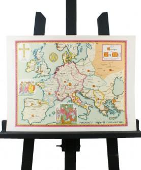 Carte de l'Europe en l'An Mil