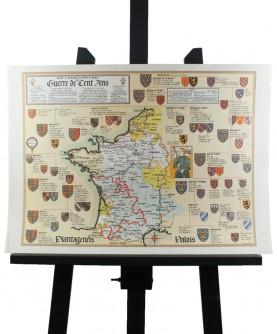 Carte de la Guerre de Cent Ans