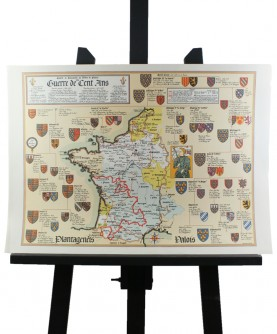 Map of the Hundred Years War