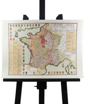 Carte de l'Histoire de France