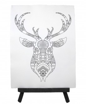 Drawing ready to paint DEER