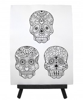 Drawing ready to paint DEAD HEAD