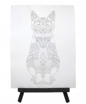 Drawing ready to paint CAT