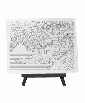 Drawing ready to paint LANDSCAPE LIGHTHOUSE