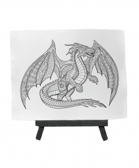 Drawing ready to paint DRAGON