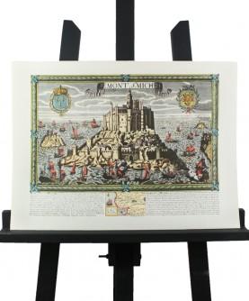 Carte du Mont-Saint-Michel au XVII°s