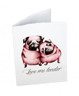 """Love"" card - Love me tender"