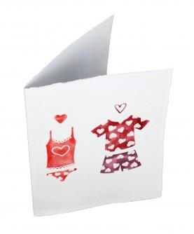 """Carte """"Love"""" - Pyjama party"""