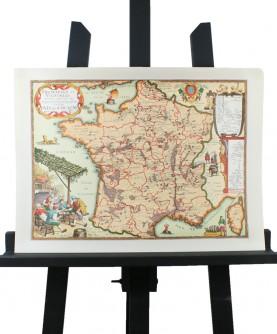 Carte du Pays de Cocagne - vignobles et fromages