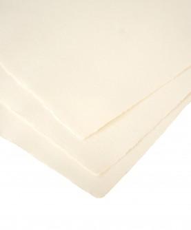 Ivory cotton rag paper - large size