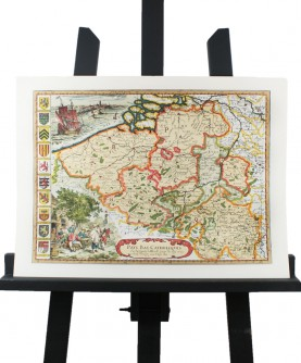 Carte des Pays-Bas Catholique en 1667