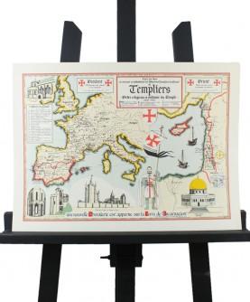 Carte des Templiers