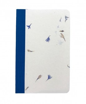 """Rounded edges notebook """"blue flowers"""""""
