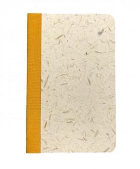 "Rounded edges notebook ""spelt straw"""