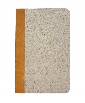 """Rounded edges notebook """"rice straw"""""""