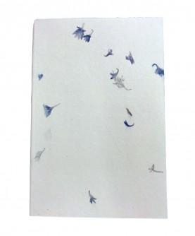 "Strait edges notebook ""blue flowers"""
