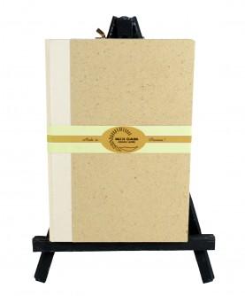 """Livre d'or tranche dorée """"paille de riz"""" 15x22 cm"""