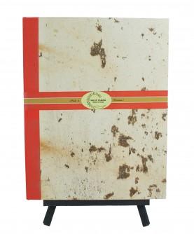 "Gold edge Guestbook ""vegetal dye"" 21x30 cm"