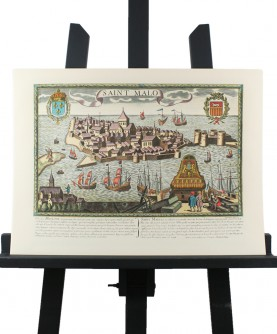 """View of """"Saint-Malo en l'Isle"""" in the 17th century"""
