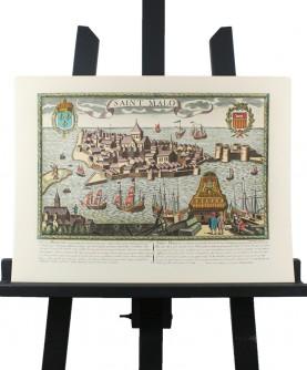 Vue de Saint-Malo en l'Isle au XVII°s