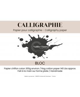 Bloc papier calligraphie