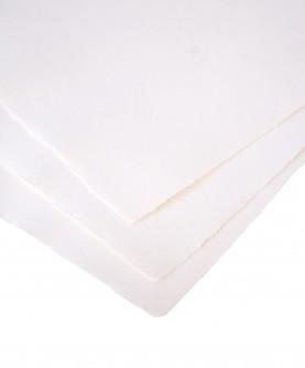 10 feuilles : Papier chiffon coton blanc