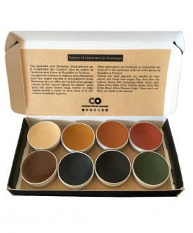 Handcrafted watercolors: colors from Provence