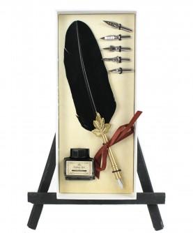 Black feather box