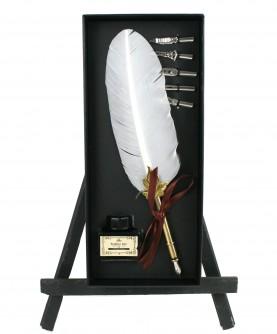White feather box