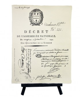 1st decree French National Assembly