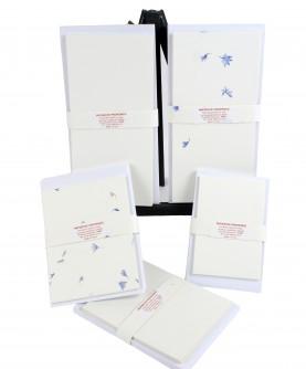 12 cartes de correspondance avec enveloppes