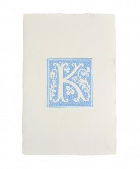 Blue alphabet notebook