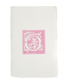 Pink alphabet notebook