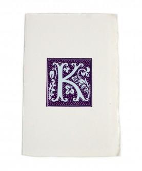 Purple alphabet notebook