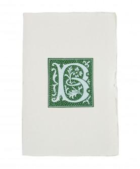 Green alphabet notebook