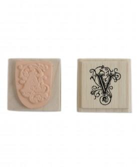 Arabesque letter stamp