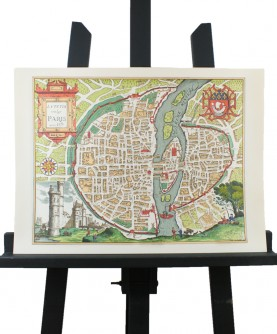 """""""Small Paris in 1575"""" map"""