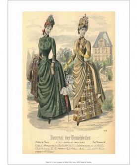 Dames devant château