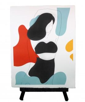 Line art poster Woman 1