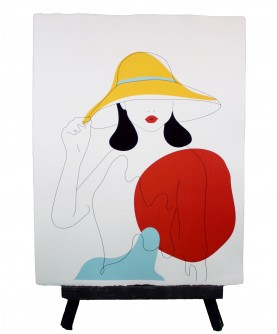Line art poster Woman 2