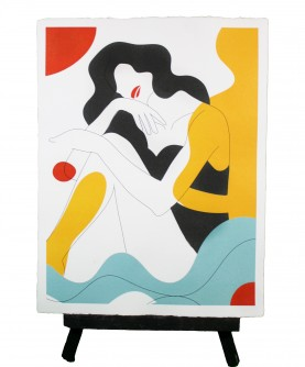 Line art poster Woman 3