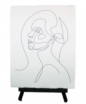 Line art poster Woman 4