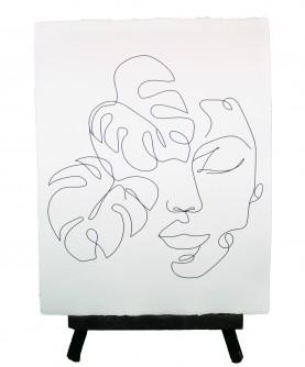 Line art poster Woman 5