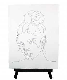 Line art poster Woman 6