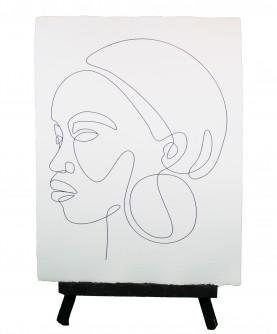 Line art poster Woman 7