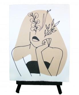Line art poster Woman 11