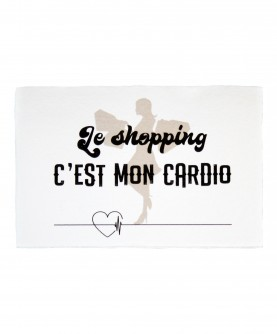 Carte Citation Humour 7 : Le shopping c'est mon cardio